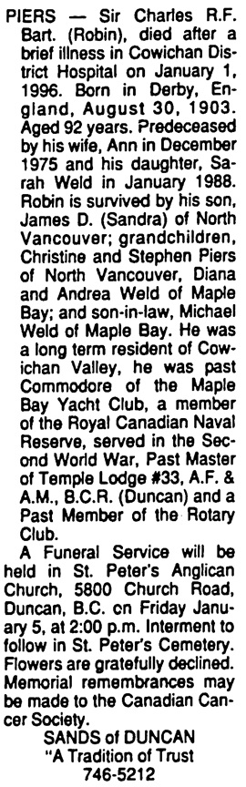 Victoria Times Colonist, January 3, 1996, page D4, column 8.