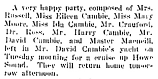 Vancouver Daily World, July 15, 1905, page 3, column 5.