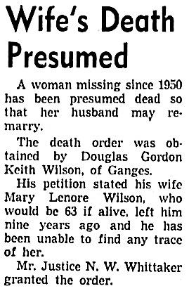 Vancouver Sun, July 15, 1959, page 9, column 3.