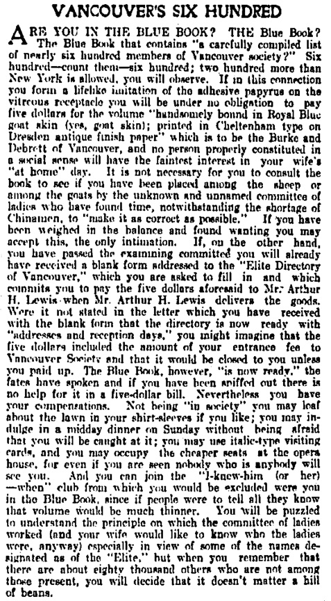 Vancouver Daily World, April 28, 1908, page 4, column 4.