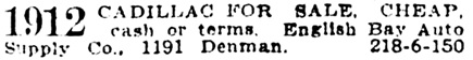 Vancouver Province, September 12, 1917, page 18, column 3.