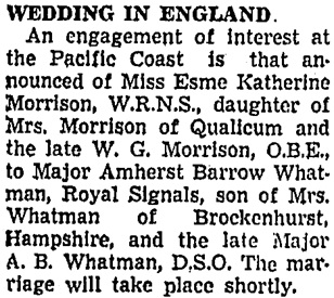 Vancouver Sun, February 16, 1942, page 6, column 1.
