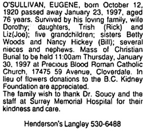 Surrey Leader, January 29, 1997, page A27, column 3.