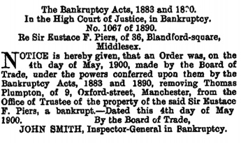 The London Gazette, May 8, 1900, page 2964; https://www.thegazette.co.uk/London/issue/27190/page/2964.