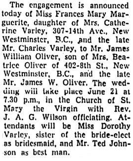 The Leader-Post (Regina), June 9, 1952, page 7, column 4.