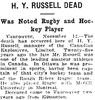 The Gazette (Montreal), November 13, 1924, page 13, columns 6-7.
