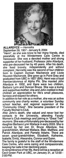 Vancouver Sun, January 17, 2004, page 40, column 1.