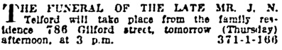 Vancouver Province, October 8, 1919, page 20, column 1.