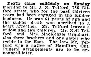 Vancouver Province, October 7, 1919, page 18, column 3.