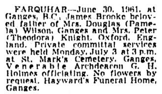 Vancouver Province, July 4, 1961, page 20, column 2.
