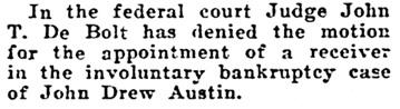 Honolulu Advertiser, June 5, 1923, page 3, column 6.