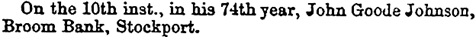 Leicester Chronicle and Leicester Mercury (Leicester, England, February 17, 1872, page 8, column 6.