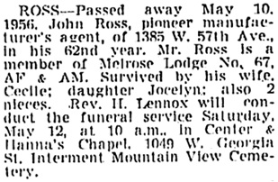 Vancouver Sun, May 11, 1956, page 34, column 4.