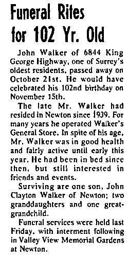 Surrey Leader, October 30, 1975, page 15, column 3.