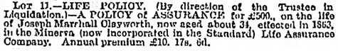 Birmingham Daily Post, October 19, 1874, page 1, column 5.