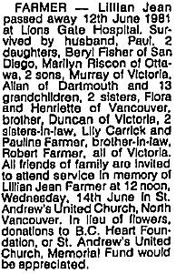 Vancouver Sun, June 16, 1981, page 40, column 4.