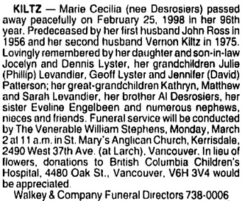 Vancouver Sun, February 27, 1998, page B6, column 2.