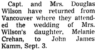 Vancouver Sun, September 10, 1965, page 29, column 3.