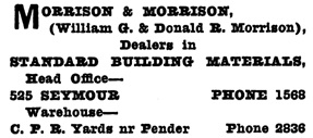 Henderson's City of Vancouver and North Vancouver Directory, 1909, page 920.
