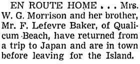 Vancouver Sun, October 23, 1954, page 29, column 4.