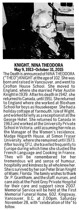 Vancouver Sun, November 14, 2015, page 47, column 3.