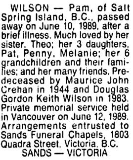 Vancouver Sun, June 14, 1989, page D5, column 9.