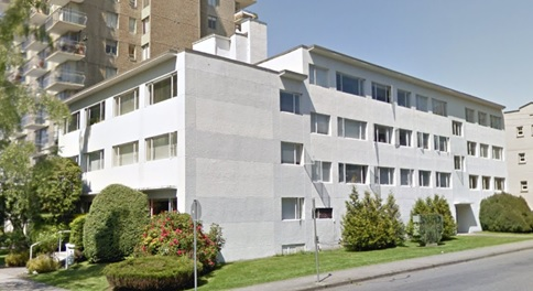 Park Seville, 1901 Barclay Street, Vancouver; Google Streets; searched January 30, 2019; image dated May 2012.