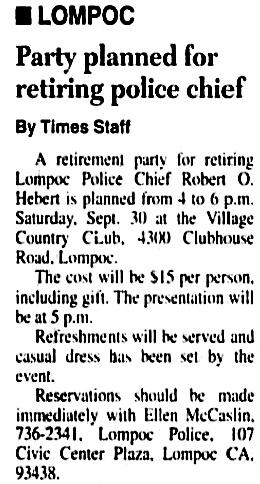 Santa Maria Times (Santa Maria, California), September 16, 1995, page A4, column 3.