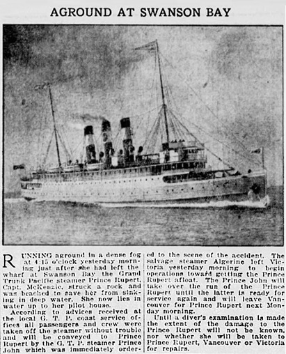 Vancouver Sun, September 30, 1920, page 12, columns 4-5.