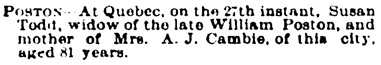 Ottawa Daily Citizen, December 28, 1888, page 4, column 5.