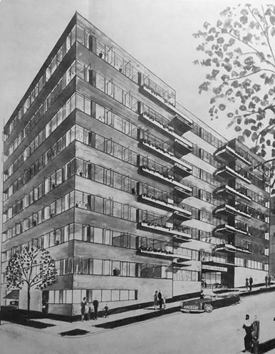The Glass Manor, 700 Chilco Street; About Town, November 1, 1957, cover.
