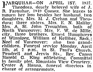 Vancouver Sun, April 2, 1937, page 17, column 1.