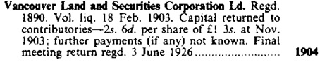 Register of Defunct Companies, Springer, Mar. 1, 1990, page 514.