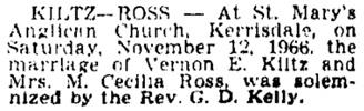 Vancouver Sun, November 19, 1966, page 36, column 2.