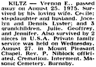 Vancouver Sun, August 28, 1975, page 47, column 4.