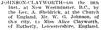 Vancouver Daily World, June 22, 1894, page 4, column 3.
