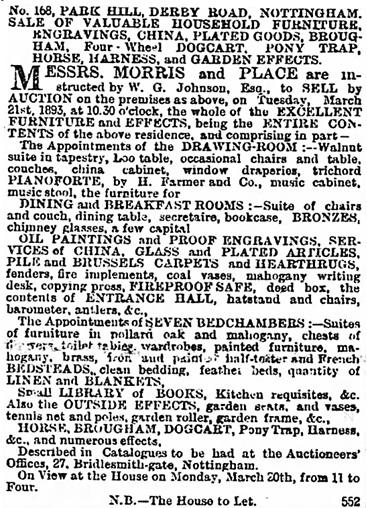 The Nottinghamshire Guardian (Nottingham, Nottinghamshire, England), March 18, 1893, page 1, column 3.