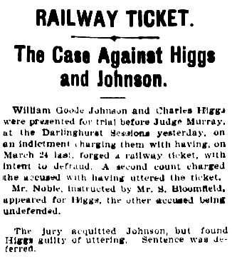 """""""Railway Ticket,"""" The Australian Star (Sydney, New South Wales), May 10, 1904, page 7, column 4; https://trove.nla.gov.au/newspaper/article/229290791 [selected portions]."""