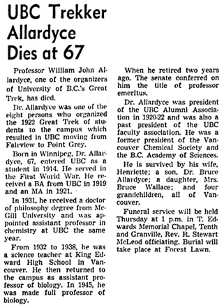 Vancouver Sun, December 23, 1964, page 2, column 1.