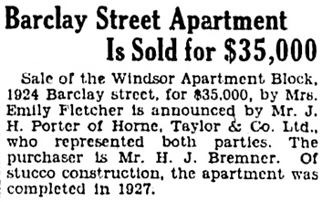Vancouver Province, April 11, 1929, page 30, column 5.
