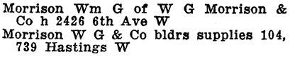 Henderson's Greater Vancouver Directory, 1911, Part 1, page 957 [selected excerpts].