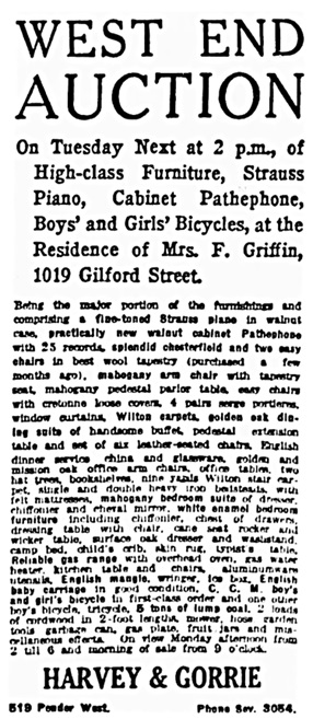 Vancouver Province, December 26, 1919, page 15, column 6.