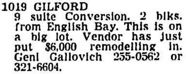 Vancouver Sun, July 15, 1967, page 44, column 3.
