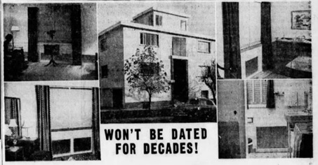 1020 Chilco Street, Glassheat heating system advertisement; Vancouver Sun, October 18, 1952, page 23, columns 5-8.