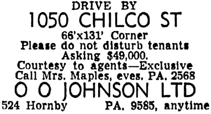 Vancouver Sun, April 17, 1956, page 33, column 5.
