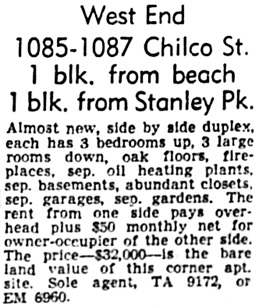 Vancouver Province, October 20, 1956, page 39, column 7.
