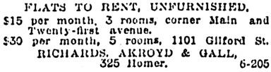 Vancouver Province, November 22, 1913, page 31, column 4.
