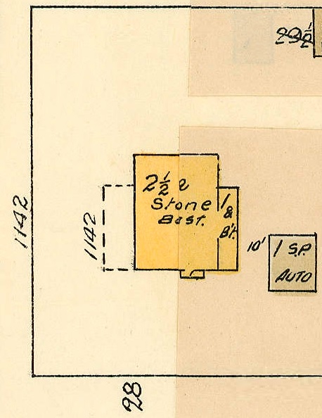 1142 Chilco Street, 1913, detail from Denman Street to Comox Street to Stanley Park boundary to English Bay Reference code: 1972-582.38 – Plate 63; https://searcharchives.vancouver.ca/plate-63-denman-street-to-comox-street-to-stanley-park-boundary-to-english-bay.