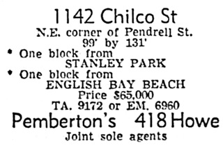 Vancouver Sun, June 4, 1955, page 45, column 6.