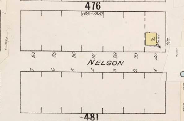 1800 Block Nelson Street; Detail from Insurance plan – City of Vancouver, July 1897, revised June 1903 – Sheet 43 – Coal Harbour to Comox Street and Bidwell Street to Stanley Park.